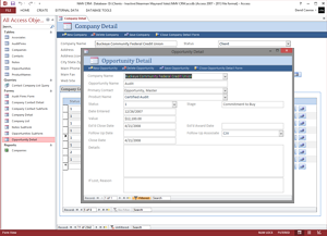 Microsoft Access CRM Application